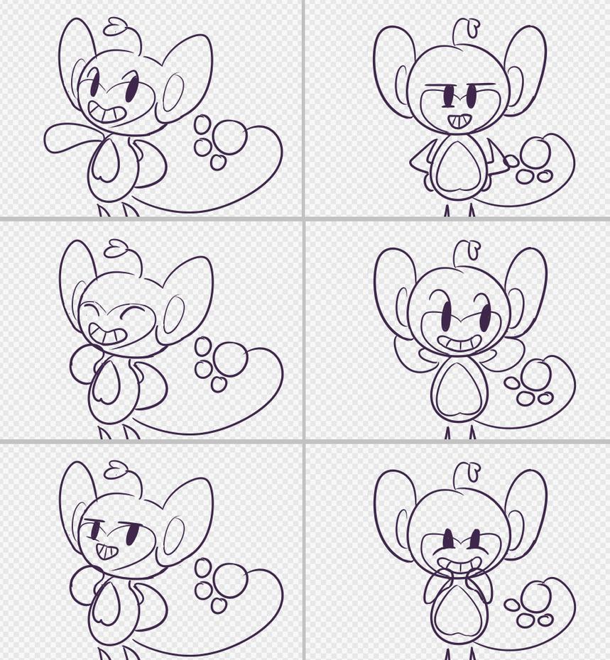 A.I.pom talksprite sketches by obviousOddball