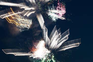Distorted Fireworks 002 by thunderkracker
