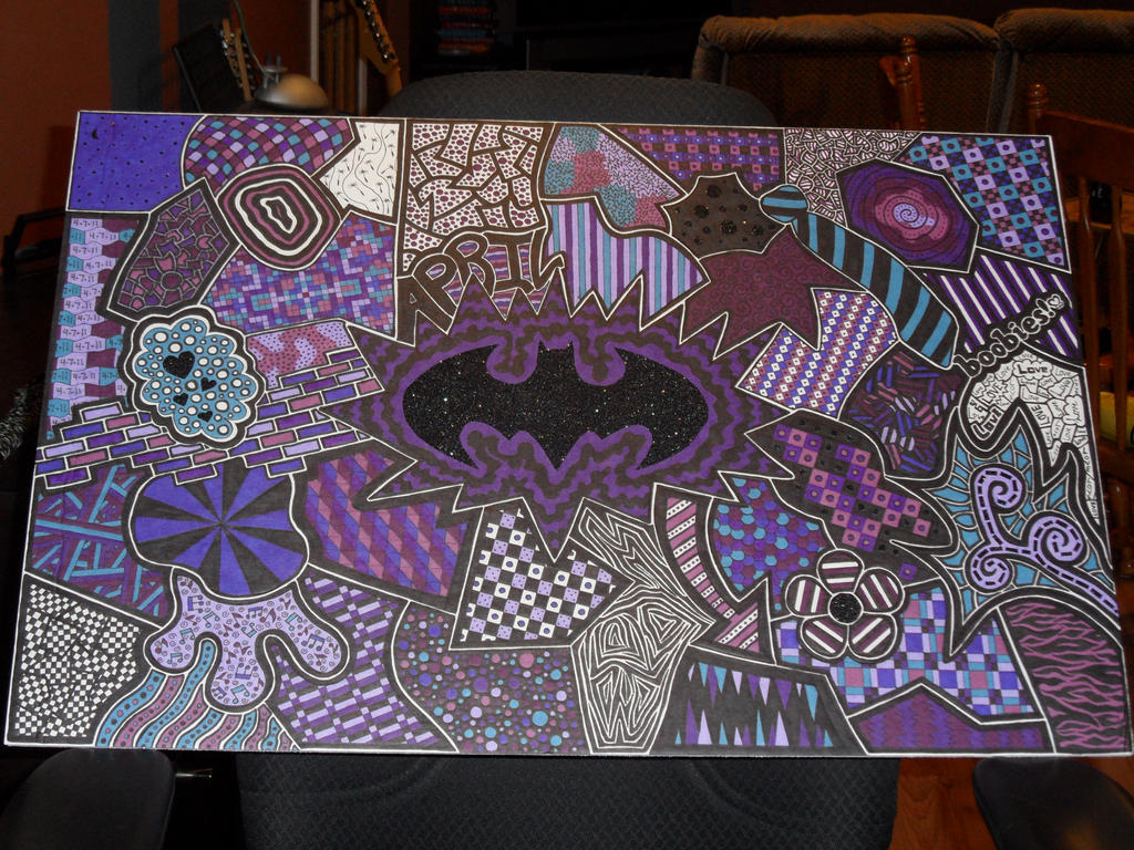 Sharpie Purple Batman by meralies