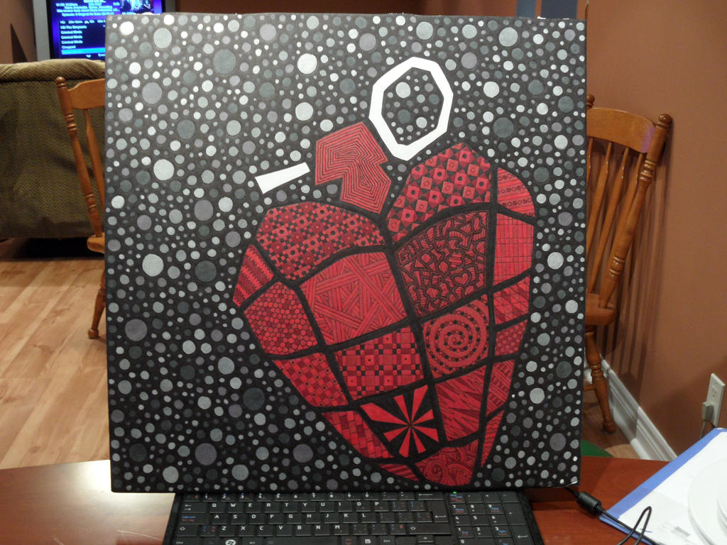 Sharpie Heart Hand Grenade by meralies