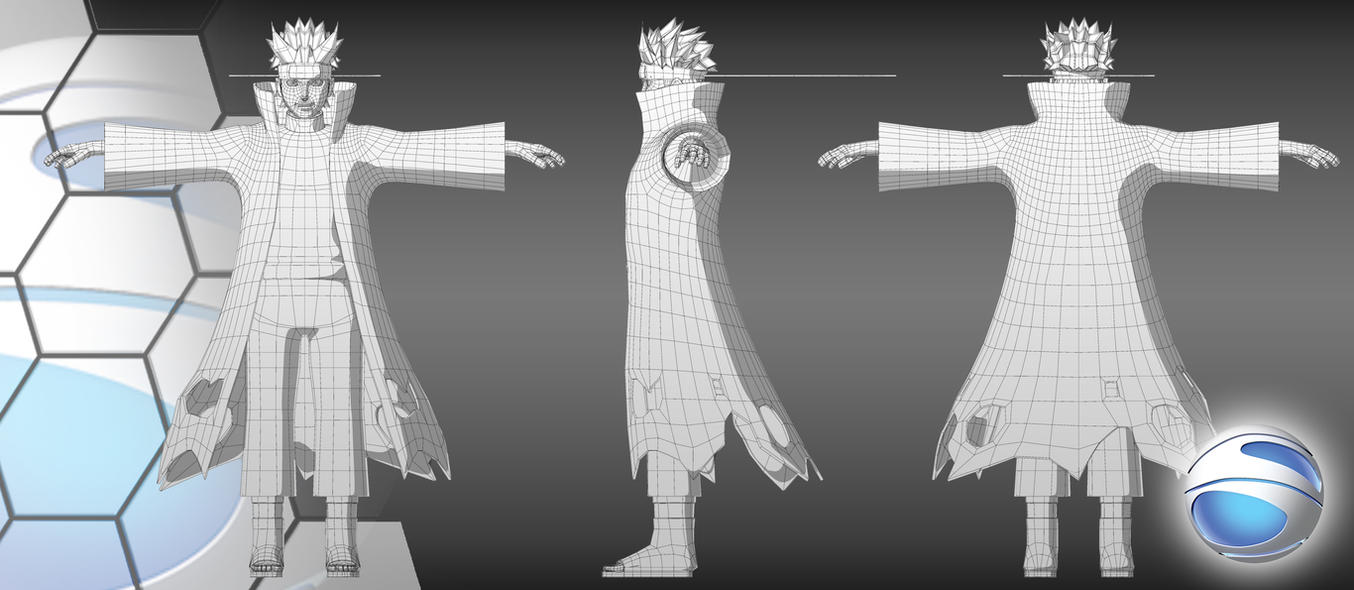 Naruto Kyuubi Form Wireframe By Show940 On Deviantart