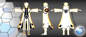 naruto kyuubi form (textured)