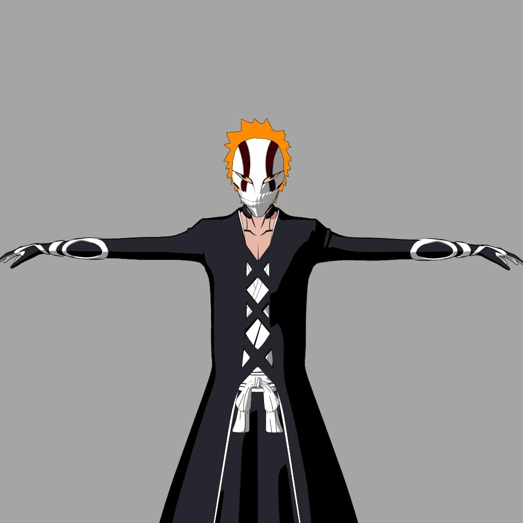 Ichigo hollow mask textured by show940 on deviantart - Ichigo vizard mask ...