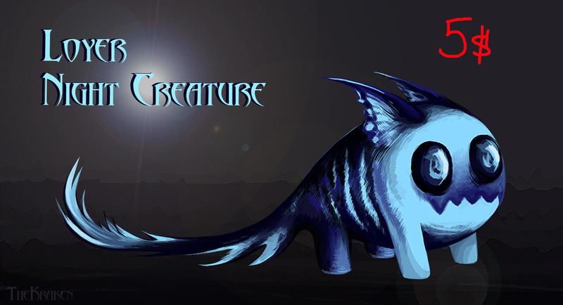 Creature Of The Night (Adopt_CLOSE) by MoonlightNightt