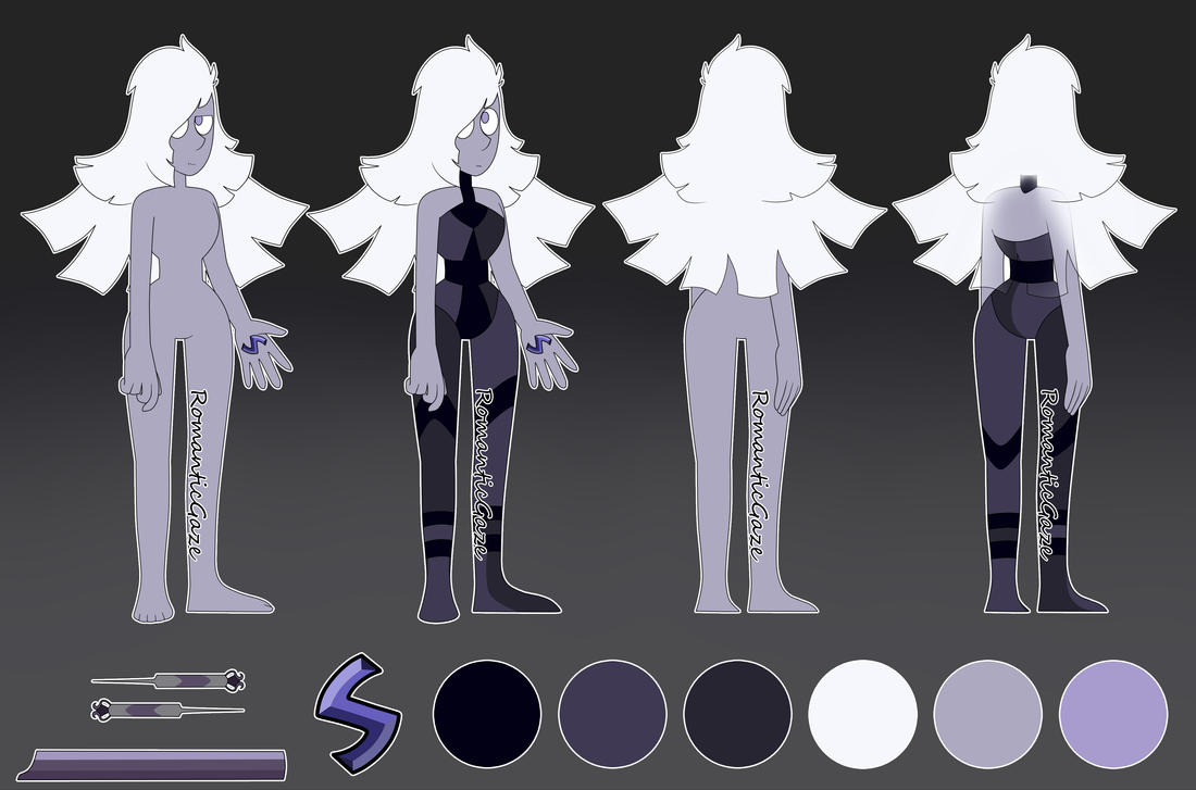 Gemsona-Amethyst reference by RomanticGaze
