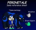 Ferinetale Sans reference by TealTNT