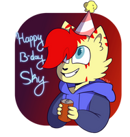 Happy Birfday Sky by TealTNT
