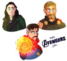 More Avenger Doodles by TealTNT
