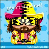 WWF: Macho Man Randy Savage by sp-studio-art