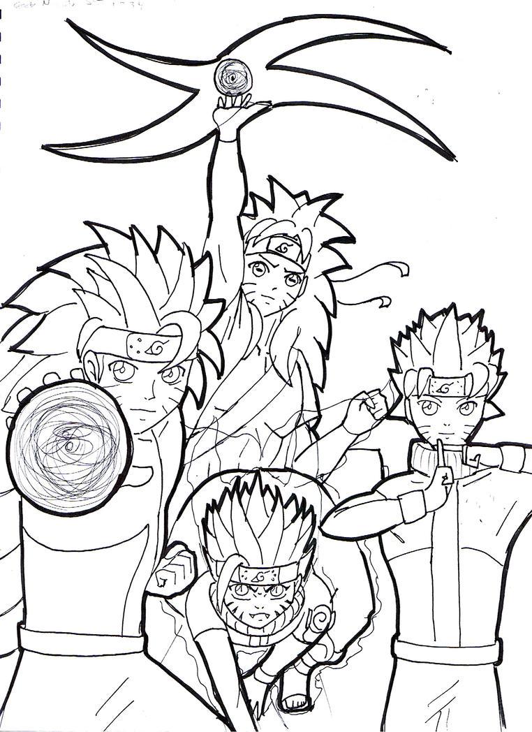 Naruto Kyuubi Sage Mode Drawing