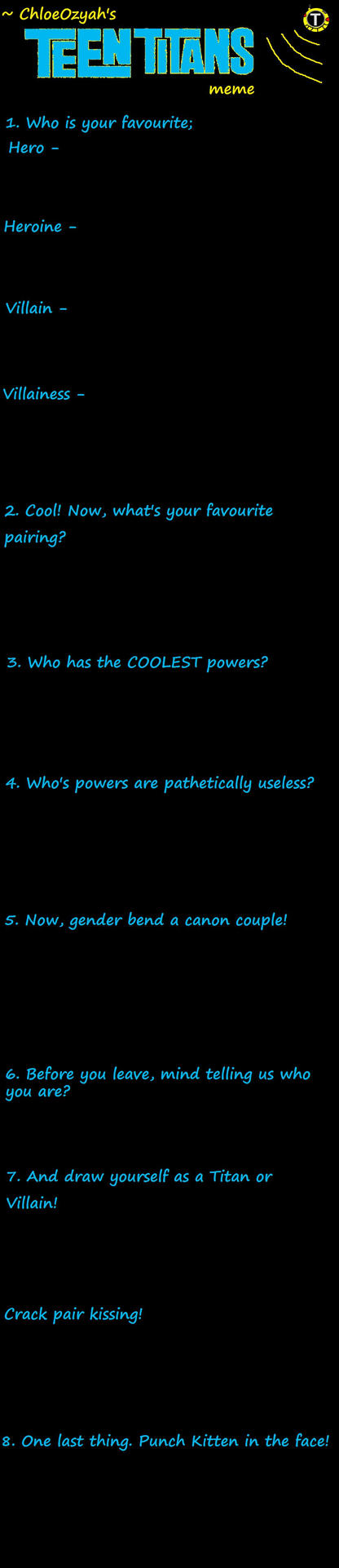 Teen Titans Meme by ChloeOzyah
