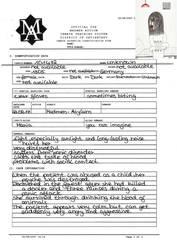 Madmen-Asylum registration form by Todeskuenstlerin