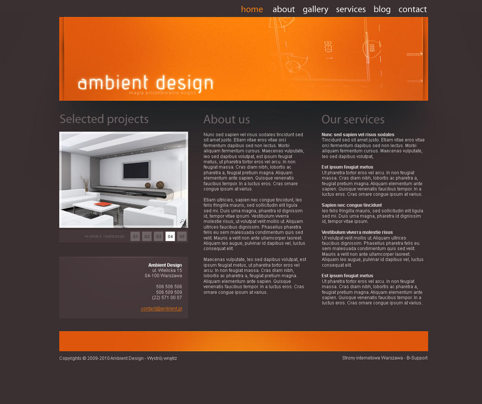 interior design website layout by malkowitch on deviantart. Black Bedroom Furniture Sets. Home Design Ideas