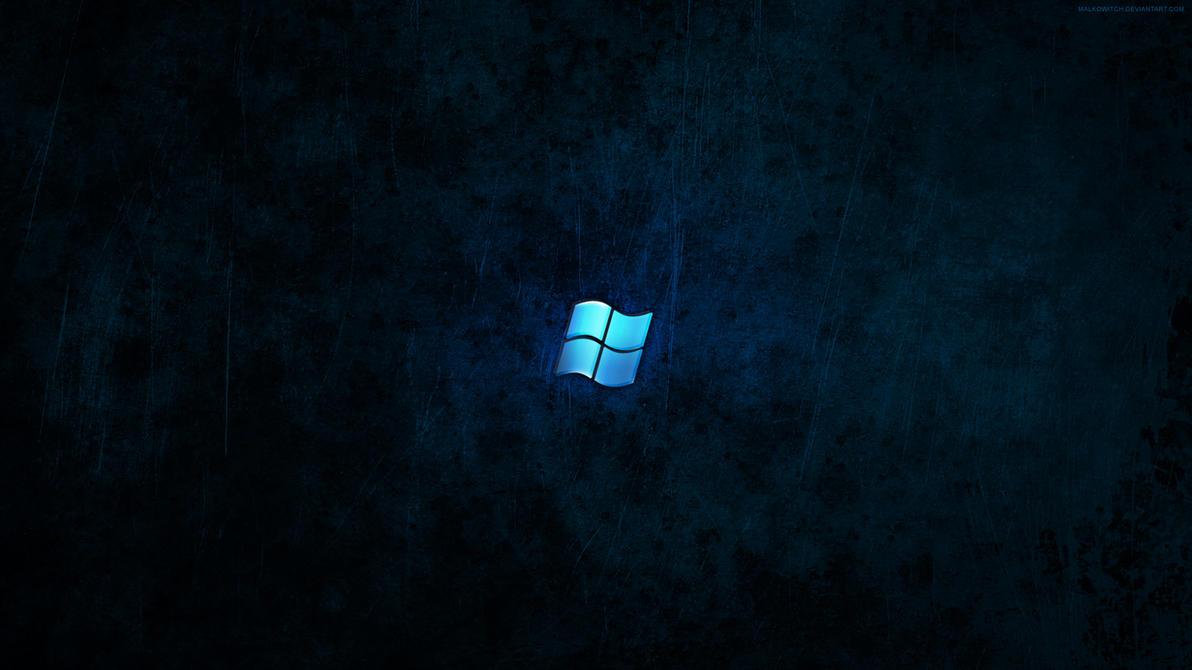 Windows Dark Blue Wallpaper by malkowitch