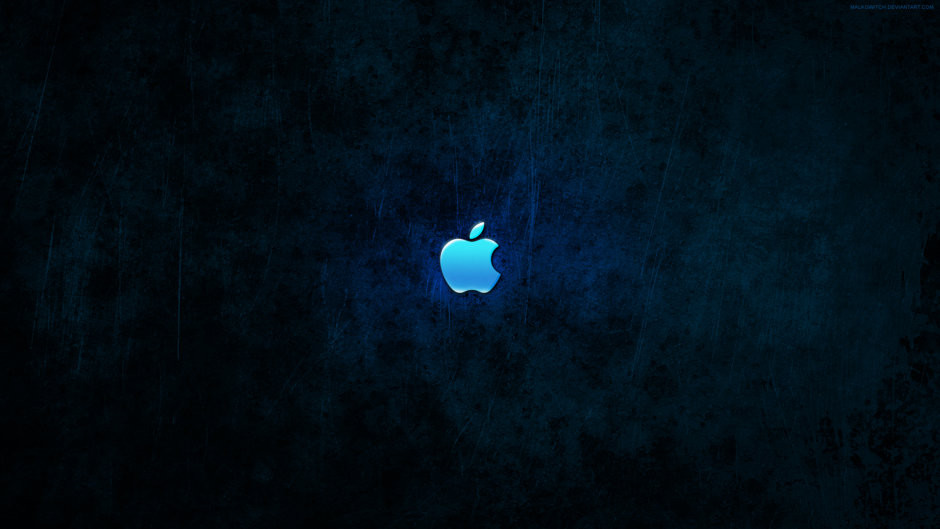 Apple Dark Blue Wallpaper
