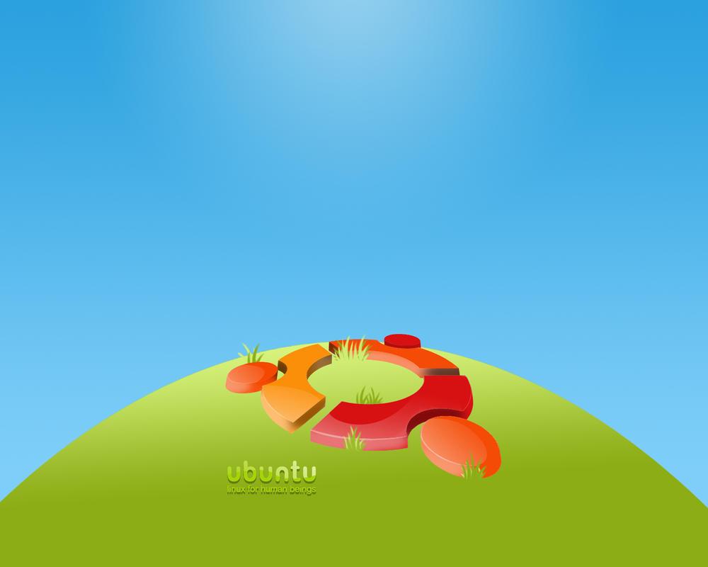 Ubuntu Scene grass by R8zr