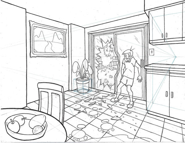 Room drawing by oceansurfer on deviantart for Draw my room