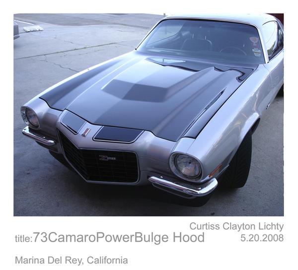 73 Camaro Power Bulge Hood By Slot7 On Deviantart