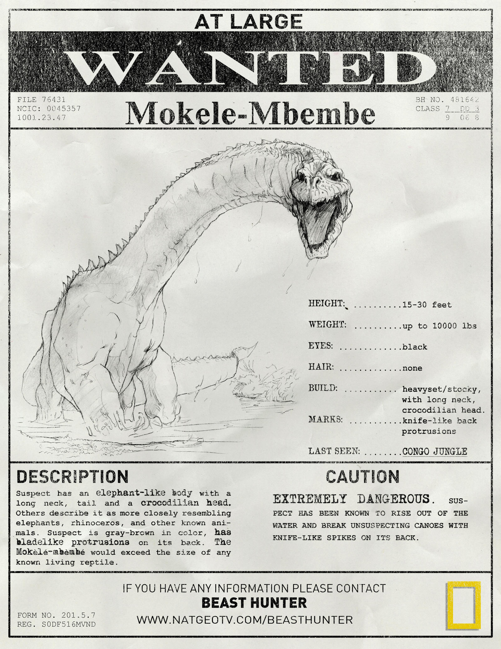 List of Synonyms and Antonyms of the Word: Mokele- Mbembe