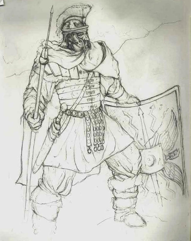 Roman Soldier with Pilum by Aranthulas on DeviantArt