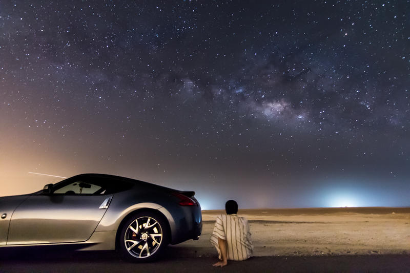 Me My Car The Stars And The Milky Way By Zeedan9494 On Deviantart