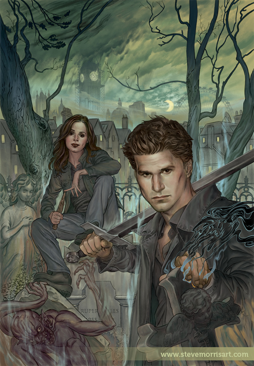 Angel and Faith cover, issue 1 by StevenJamesMorris