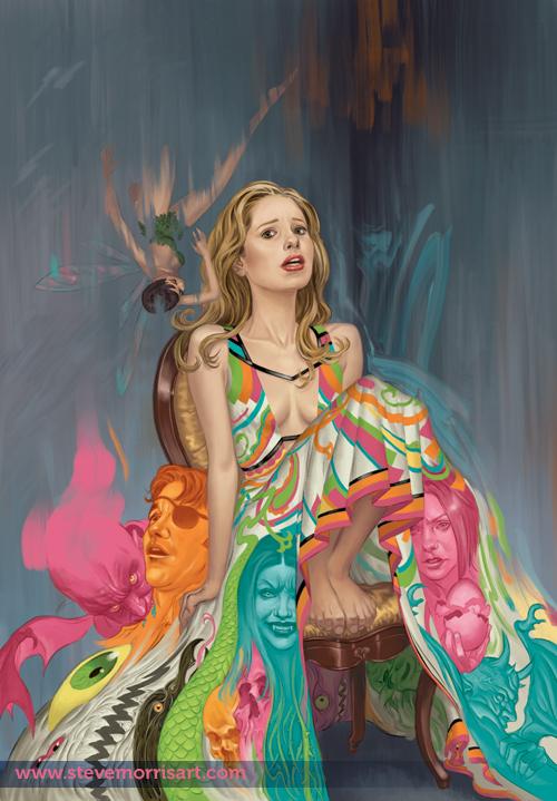 Buffy cover, season 9 issue 5 by StevenJamesMorris