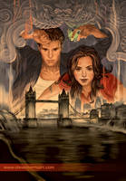 Angel and Faith cover, TPB 01 season 9 by StevenJamesMorris