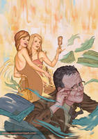 Angel and Faith cover, issue 10 season 9 by StevenJamesMorris