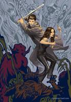 Angel and Faith cover, season 9 TPB 5 by StevenJamesMorris