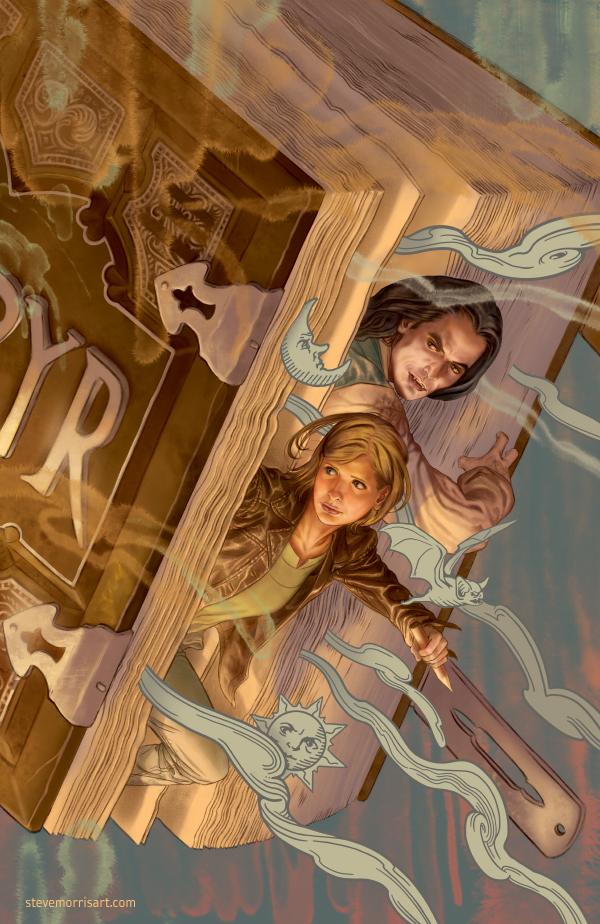 Buffy the Vampire Slayer cover, issue 3 season 10 by StevenJamesMorris