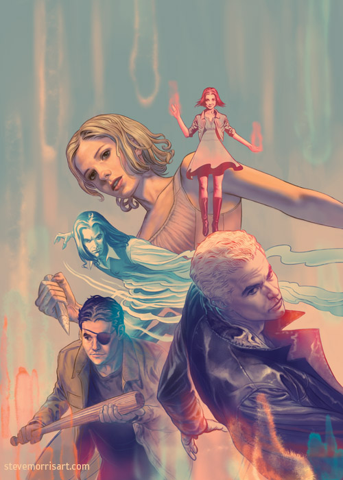 Buffy the Vampire Slayer cover, issue 4 season 10 by StevenJamesMorris