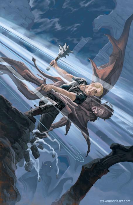 Buffy the Vampire Slayer cover, issue 5 season 10 by StevenJamesMorris