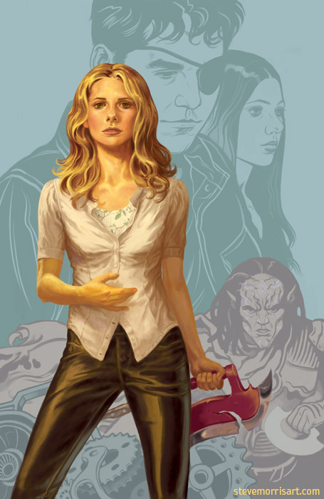 Cover for volume 1, season 9 of Buffy the Vampire by StevenJamesMorris