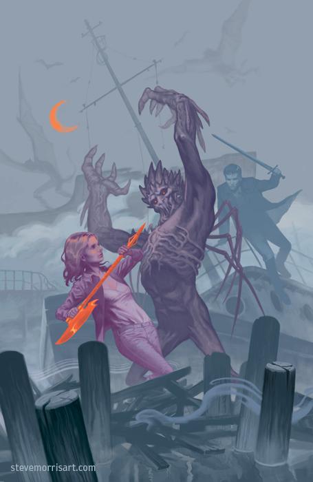 Buffy the Vampire Slayer cover - season 10 issue 1 by StevenJamesMorris