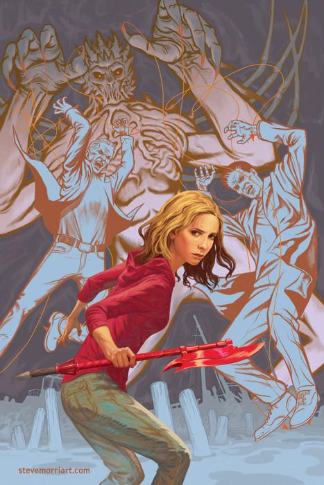 Buffy the Vampire Slayer season 10 TPB 4 cover by StevenJamesMorris
