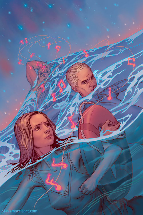 Buffy the Vampire Slayer-comic cover s10 issue 24 by StevenJamesMorris