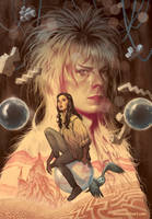 Jim Henson's Labyrinth Artist Tribute book cover by StevenJamesMorris