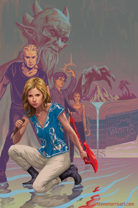 Buffy the Vampire Slayer cover S10 TPB6 by StevenJamesMorris