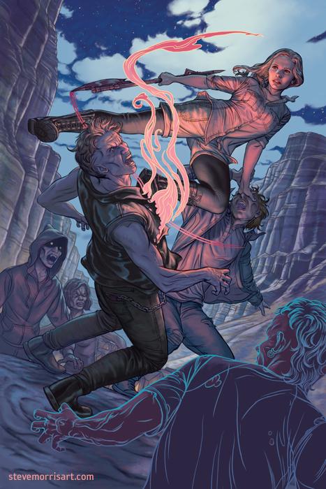 Buffy the Vampire Slayer cover, Season 11 - Issue4 by StevenJamesMorris