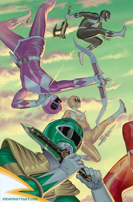 Power Rangers variant cover #13 by StevenJamesMorris