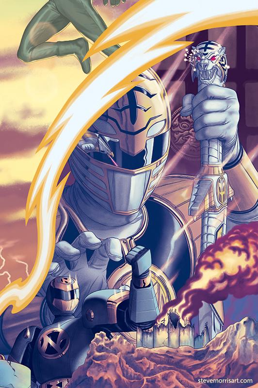 Mighty Morphin Power Ranger variant cover #18 by StevenJamesMorris