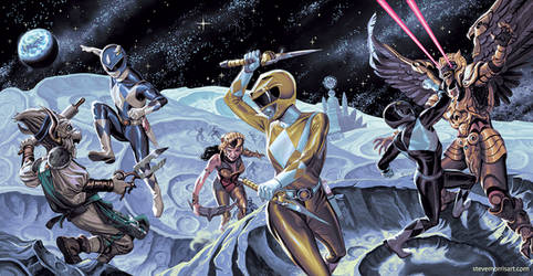 Power Rangers #50 Triptych of Covers