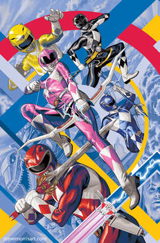 Power Rangers #1 Mighty Morphin #1 Cover Art