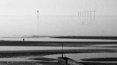 Low tide beach by Nigel-Kell