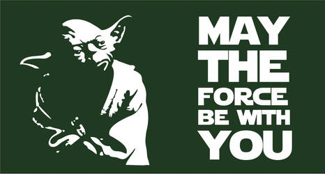 May the Force be with You | Yoda Flag