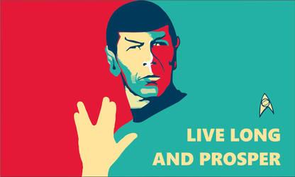 Star Trek Flag Spock Live Long And Prosper