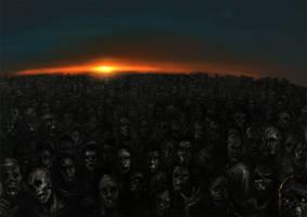 Zombie Horde by luca540