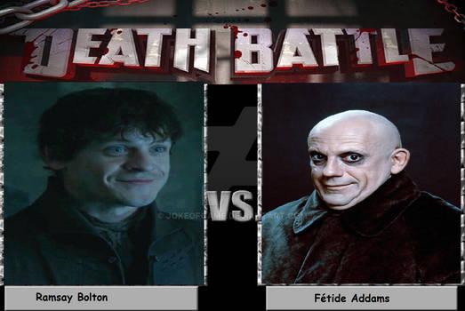 death battleRamsay Bolton vs Ftide Addams