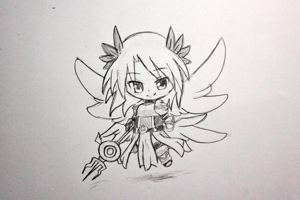 Drawing Chibi #5 Valkyrie (Ragnarok Online) by Okuta129 on DeviantArt